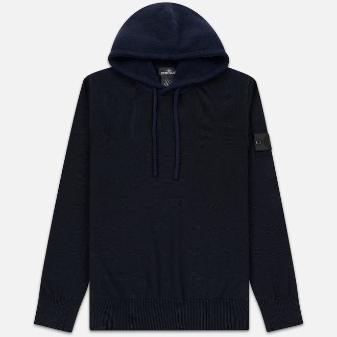 Мужской свитер Stone Island Shadow Project Contrast Hoodie Navy