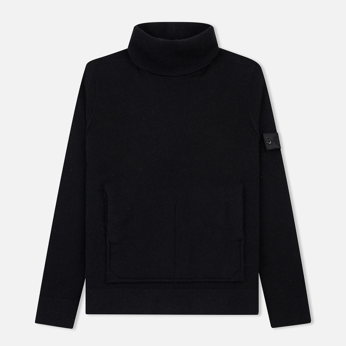 Мужской свитер Stone Island Shadow Project Engineered Mock Neck Strata Pockets Black