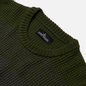 Мужской свитер Stone Island Shadow Project Gradient Effect Garter Stitch Stripes Olive Green фото - 1