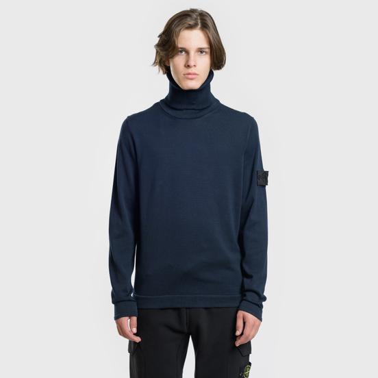 Мужской свитер Stone Island Shadow Project Knit Cotton Navy