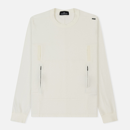 Мужской свитер Stone Island Shadow Project Lacuna Chamber Pocket Natural White