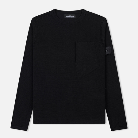 Мужской свитер Stone Island Shadow Project Pocket Constructed Side Entrance Black