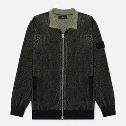 Мужской свитер Stone Island Shadow Project Two Colour Full Zipper Cardigan Black