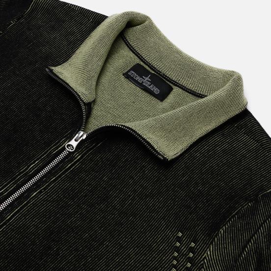 Мужской свитер Stone Island Shadow Project Two Colour Full Zipper Cardigan Black
