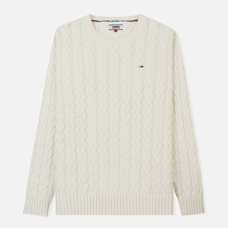 Мужской свитер Tommy Jeans Cable Marshmallow