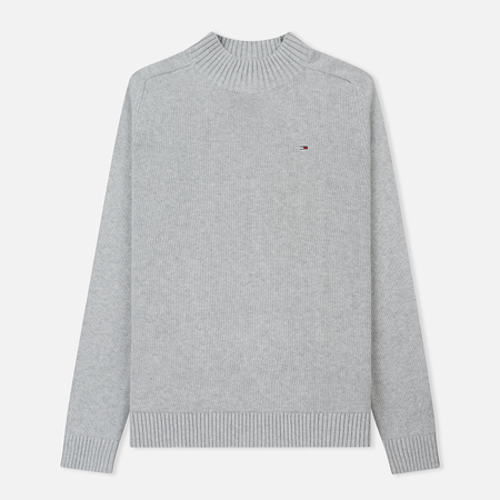 Мужской свитер Tommy Jeans Essential Mock Neck Light Grey Heather