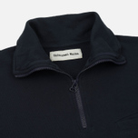 Мужской свитер Universal Works 1/4 Zip Sweat Felpa Diagonal Navy фото- 1