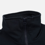 Мужской свитер Universal Works 1/4 Zip Sweat Felpa Diagonal Navy фото- 2