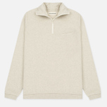 Мужской свитер Universal Works 1/4 Zip Sweat Felpa Diagonal Sand Marl фото- 0