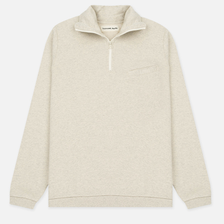 Мужской свитер Universal Works 1/4 Zip Sweat Felpa Diagonal Sand Marl