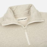 Мужской свитер Universal Works 1/4 Zip Sweat Felpa Diagonal Sand Marl фото- 1