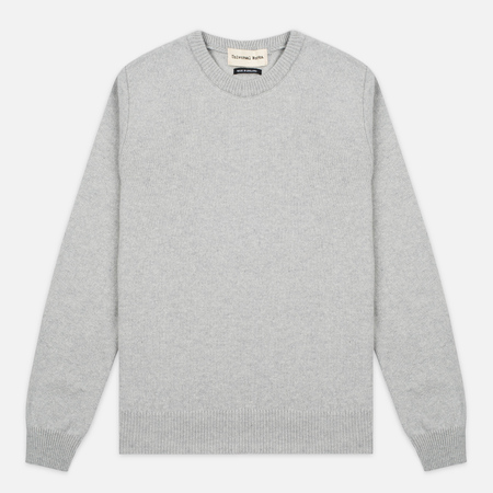 Universal Works Crew Soft Wool Men's Sweater Grey