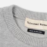 Мужской свитер Universal Works Crew Soft Wool Grey фото- 3