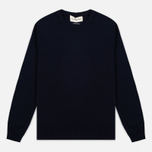 Мужской свитер Universal Works Crew Soft Wool Navy фото- 0