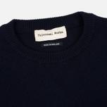 Мужской свитер Universal Works Crew Soft Wool Navy фото- 1