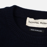 Мужской свитер Universal Works Crew Soft Wool Navy фото- 3