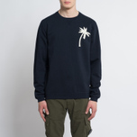 Мужской свитер Universal Works Embroidered Raglan Crew Loopback Navy фото- 4