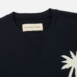 Мужской свитер Universal Works Embroidered Raglan Crew Loopback Navy фото- 1