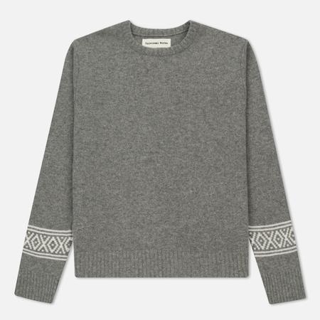 Мужской свитер Universal Works Faroe Classic Crew Soft Wool Grey Marl