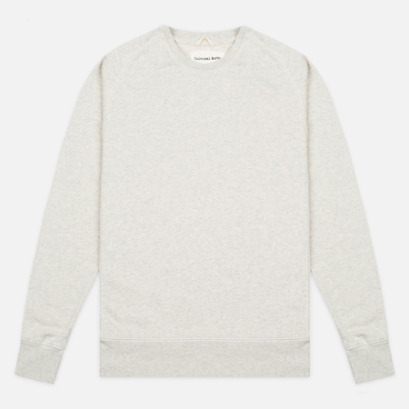 Universal Works Raglan Felpa Diagonal Men's Sweater Sand Marl