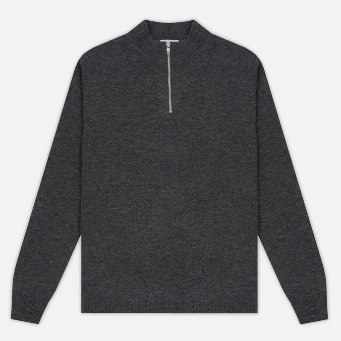 Мужской свитер Velour Cyrlie Zip Lambswool Grey