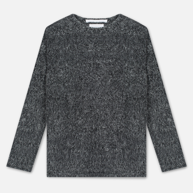Мужской свитер White Mountaineering Shaggy Big Silhouette Charcoal