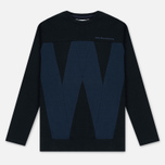 Мужская толстовка White Mountaineering W Contrasted Navy фото- 0