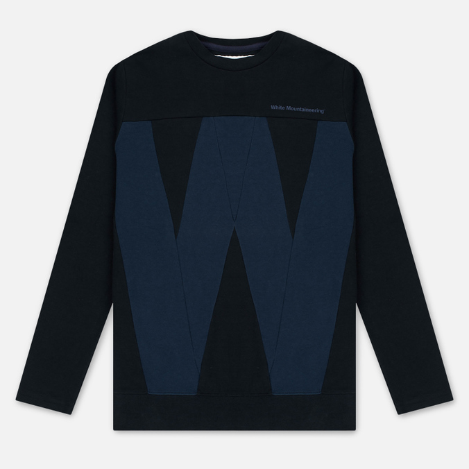 Мужская толстовка White Mountaineering W Contrasted Navy