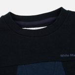 Мужская толстовка White Mountaineering W Contrasted Navy фото- 1