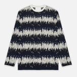 Мужской свитер White Mountaineering Wave Camouflage Jacquard Round Neck Knit Navy фото- 0