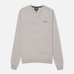 Мужской свитер Woolrich Supergeelong V-Neck Grey фото- 0