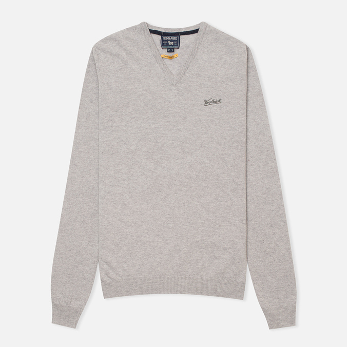 Мужской свитер Woolrich Supergeelong V-Neck Grey