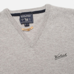 Мужской свитер Woolrich Supergeelong V-Neck Grey фото- 1