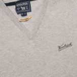 Мужской свитер Woolrich Supergeelong V-Neck Grey фото- 2