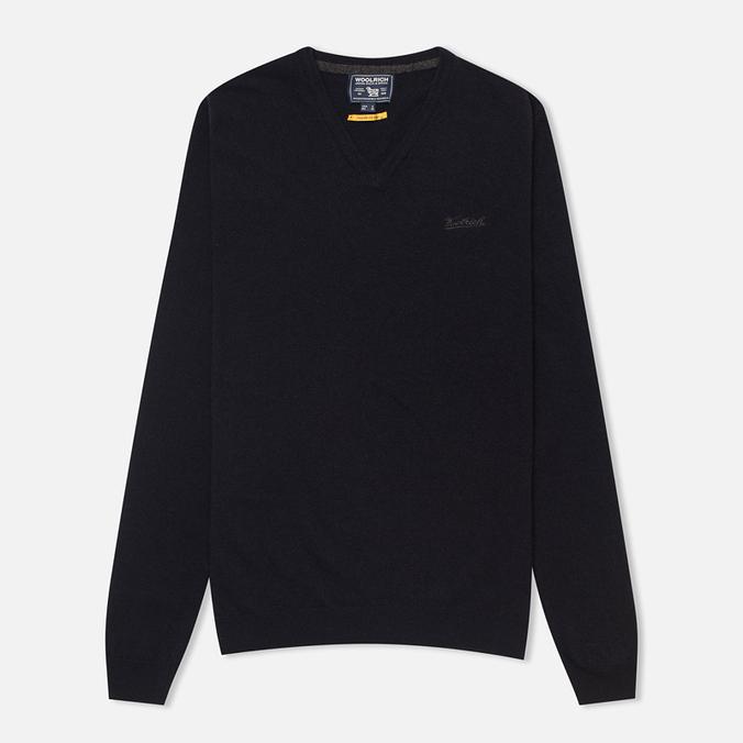 Мужской свитер Woolrich Supergeelong V-Neck Navy