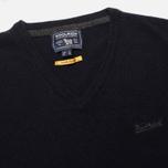 Мужской свитер Woolrich Supergeelong V-Neck Navy фото- 1