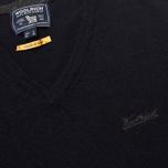 Мужской свитер Woolrich Supergeelong V-Neck Navy фото- 2