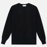 Мужской свитер YMC Brushed Crew Knit Black фото- 0