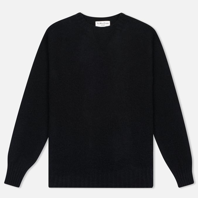 Мужской свитер YMC Brushed Crew Knit Black