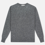 Мужской свитер YMC Brushed Crew Knit Grey фото- 0