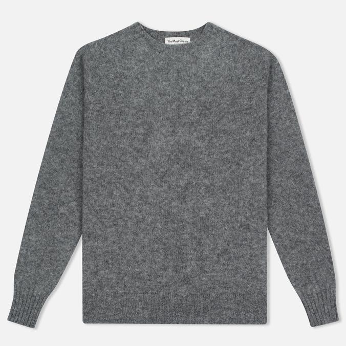 Мужской свитер YMC Brushed Crew Knit Grey