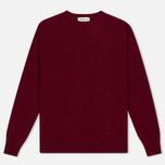 Мужской свитер YMC Brushed Crew Knit Red фото- 0