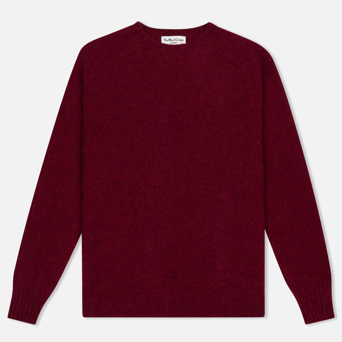 Мужской свитер YMC Brushed Crew Knit Red