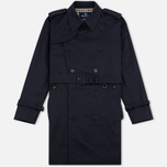 Aquascutum Corby Double Breasted Men`s Trench Coat Navy photo- 0