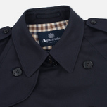 Мужской тренчкот Aquascutum Corby Double Breasted Navy фото- 2