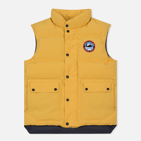 Мужской жилет Arctic Explorer Stripe Logo Yellow