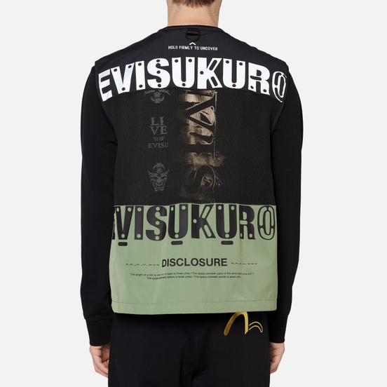 Мужской жилет Evisu Evisukuro EK Utility Dark Moss