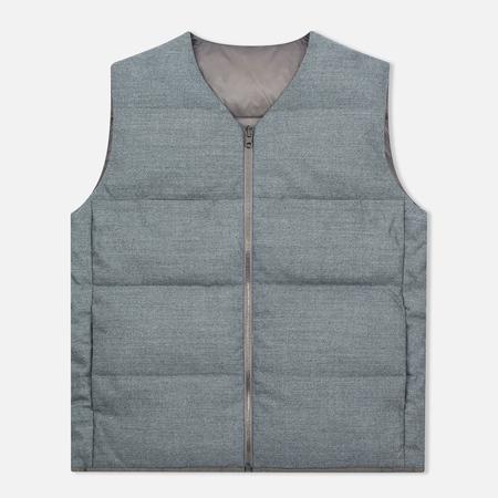 Nanamica Reversible Down Men`s Vest Heather Grey