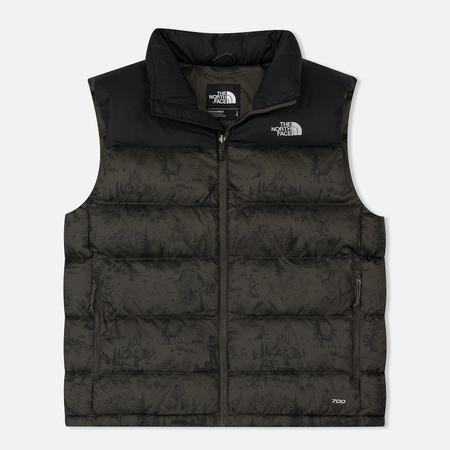 Мужской жилет The North Face Nuptse 2 Vest Black/Ink Green Toile De Jouy Print