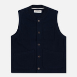 Мужской жилет Universal Works Chore Wool Melton Navy фото- 0
